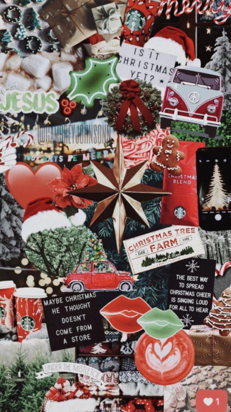 Ig Vsco Cambreyjohnson Christmas Collage Christmas Wallpaper Cute Christmas Wallpaper