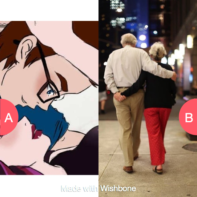 Old love or Young love????? Click here to vote @ http://getwishboneapp.com/share/1065694