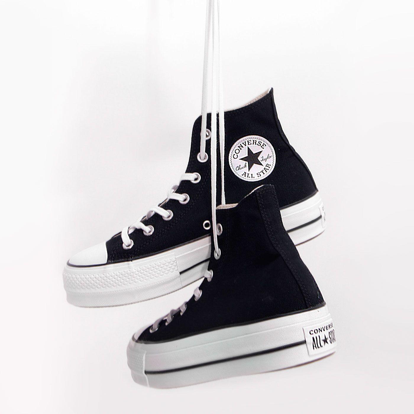 zapatillas mujer converse negras con plataforma