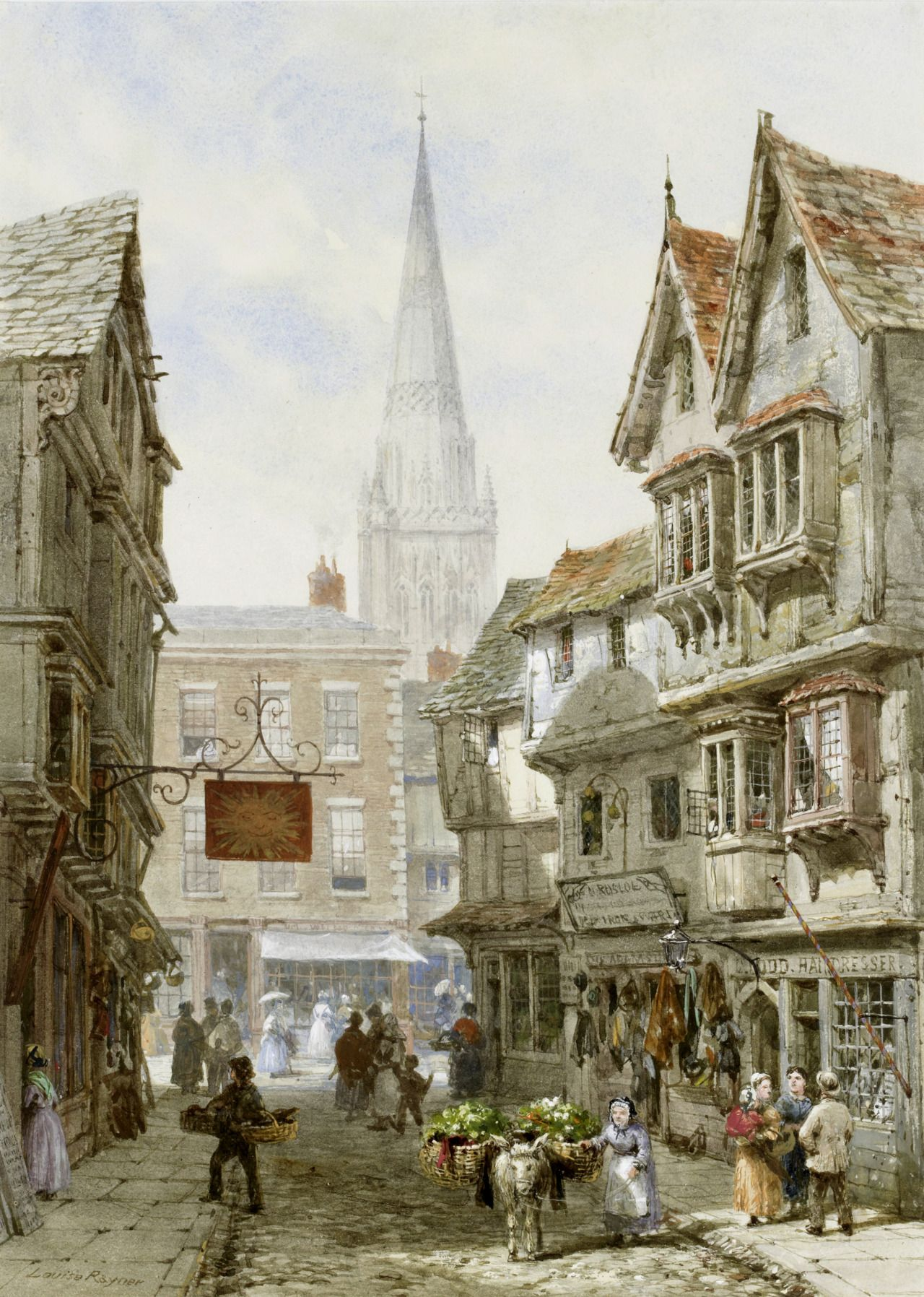Watercolor art history - Alex Aki Art Louise Ingram Rayner June 1832 8 October Was A British Watercolor Artist She Lived In Chester In The Welsh Marches But Travelled