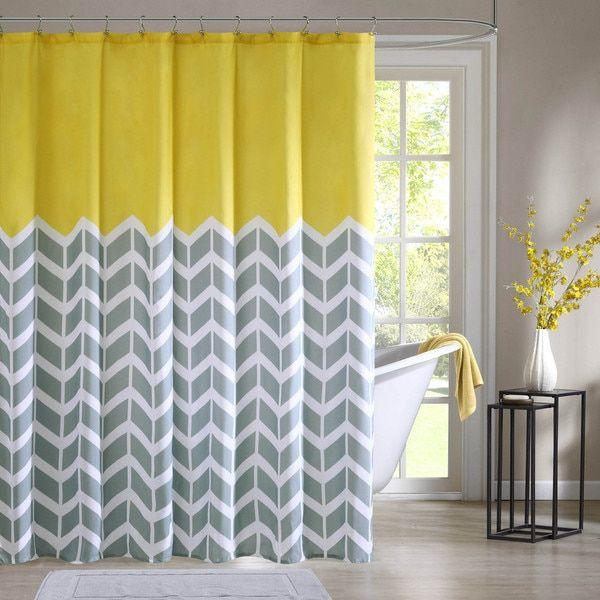 Intelligent Design Elle Printed Shower Curtain