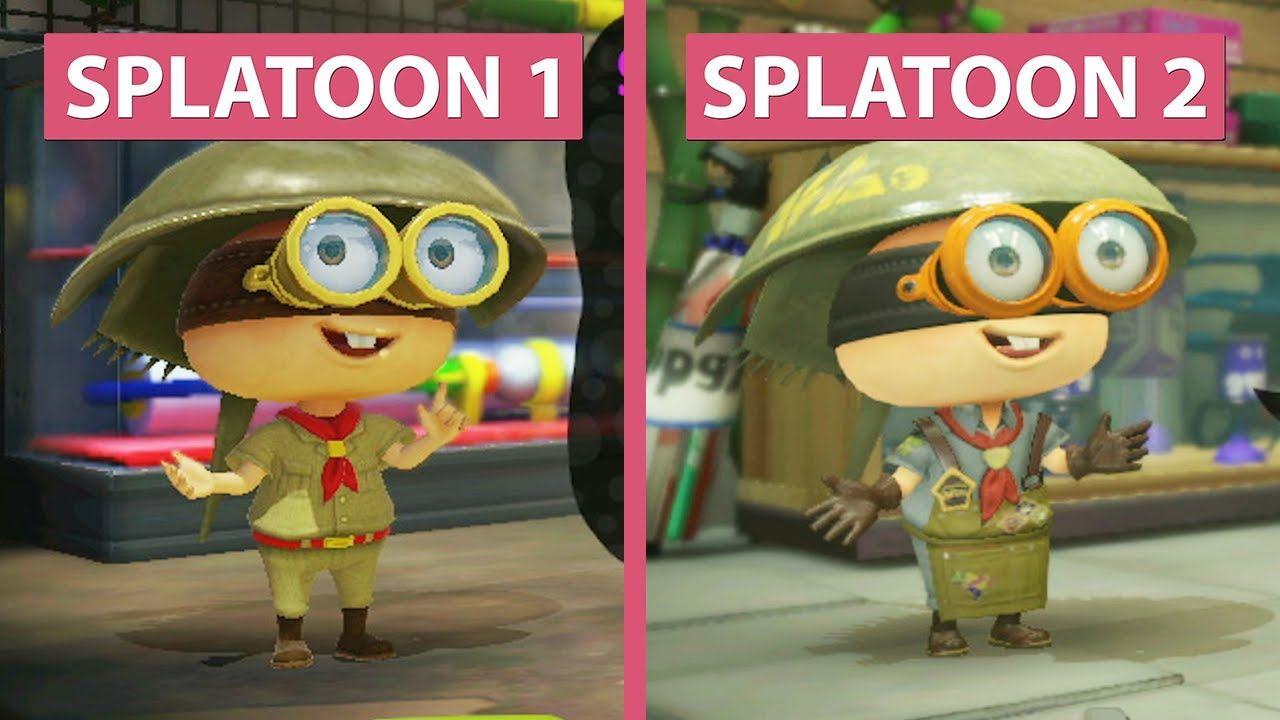 Splatoon 1 Wii U Vs Splatoon 2 Switch Demo Graphics