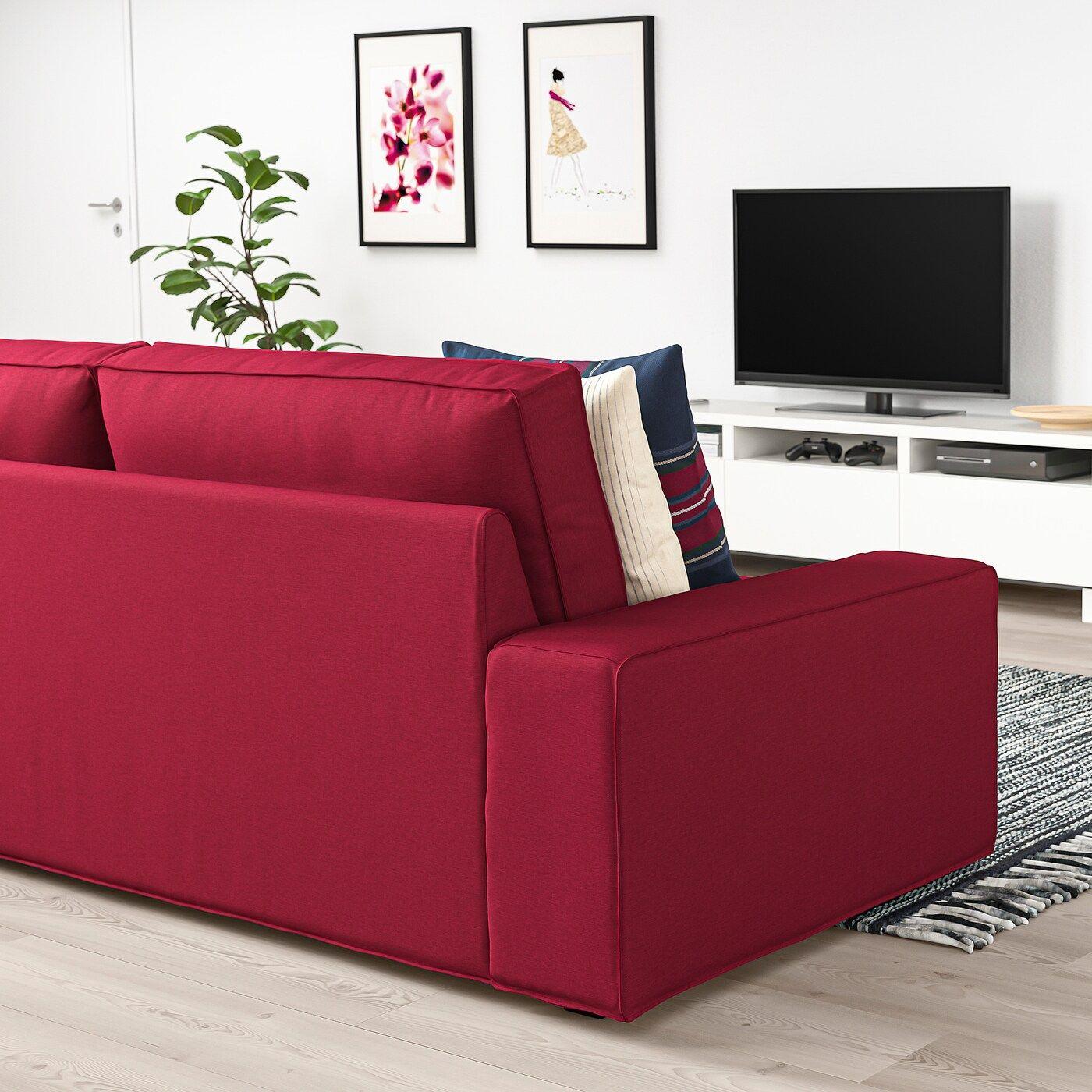 Kivik 3er Sofa Orrsta Rot Ikea Osterreich In 2020 3er Sofa 2er Sofa Sofa