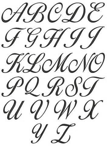 Cursive Alphabets A To Z A Z Cursive Lettering For We Lettering