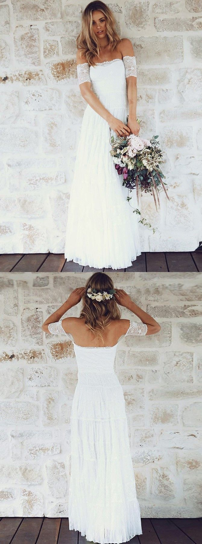 Beach wedding party dresses  simple off shoulder wedding party dresses fashion beach wedding