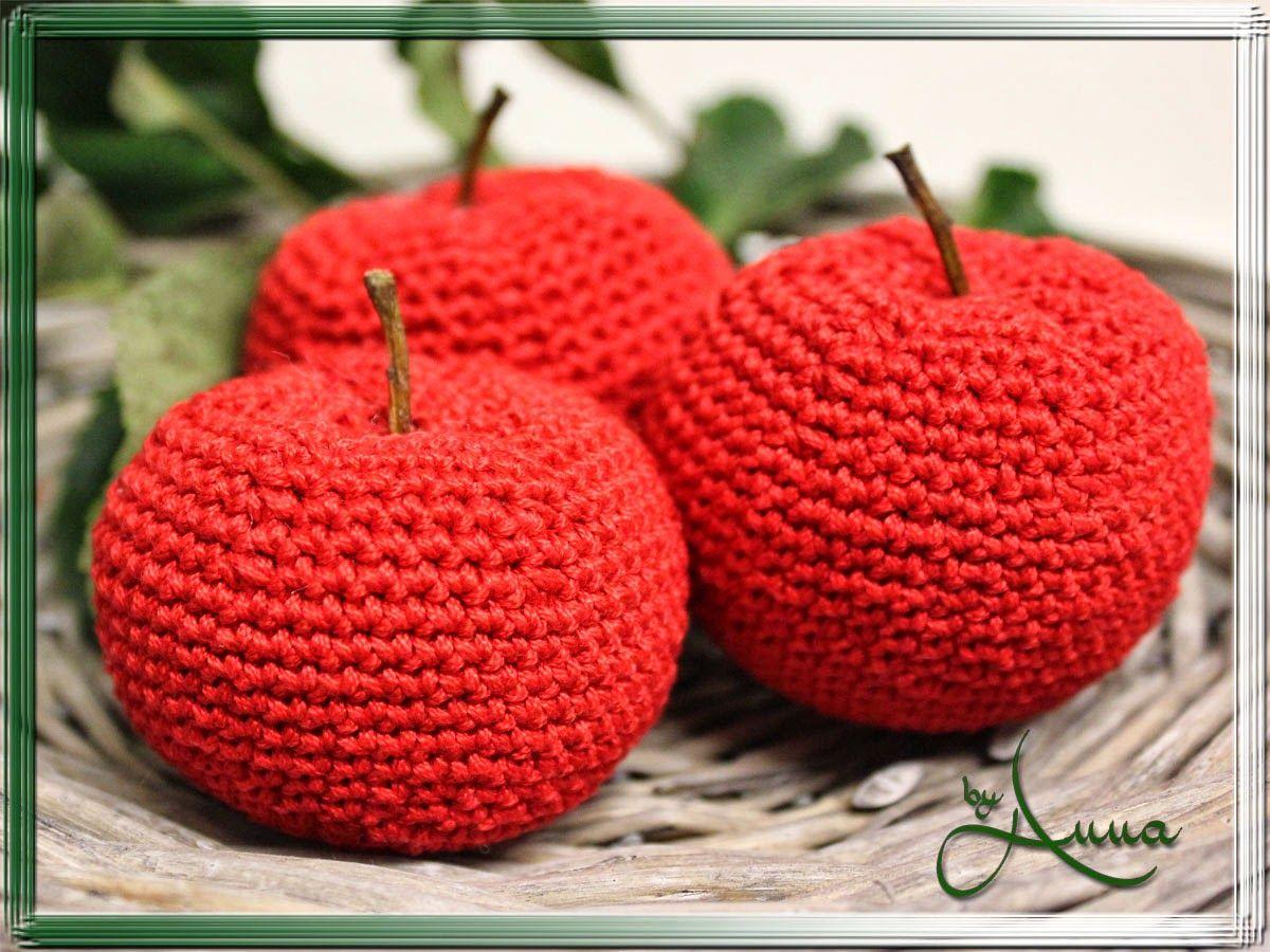 Annas Kreativ Blog Apfel Gehäkelt Häkeln Crochet Knitting Und
