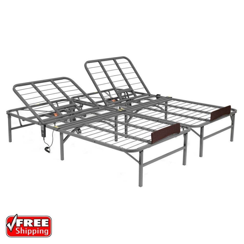 Details About King Size Electric Adjustable Lift Bed Frame Head