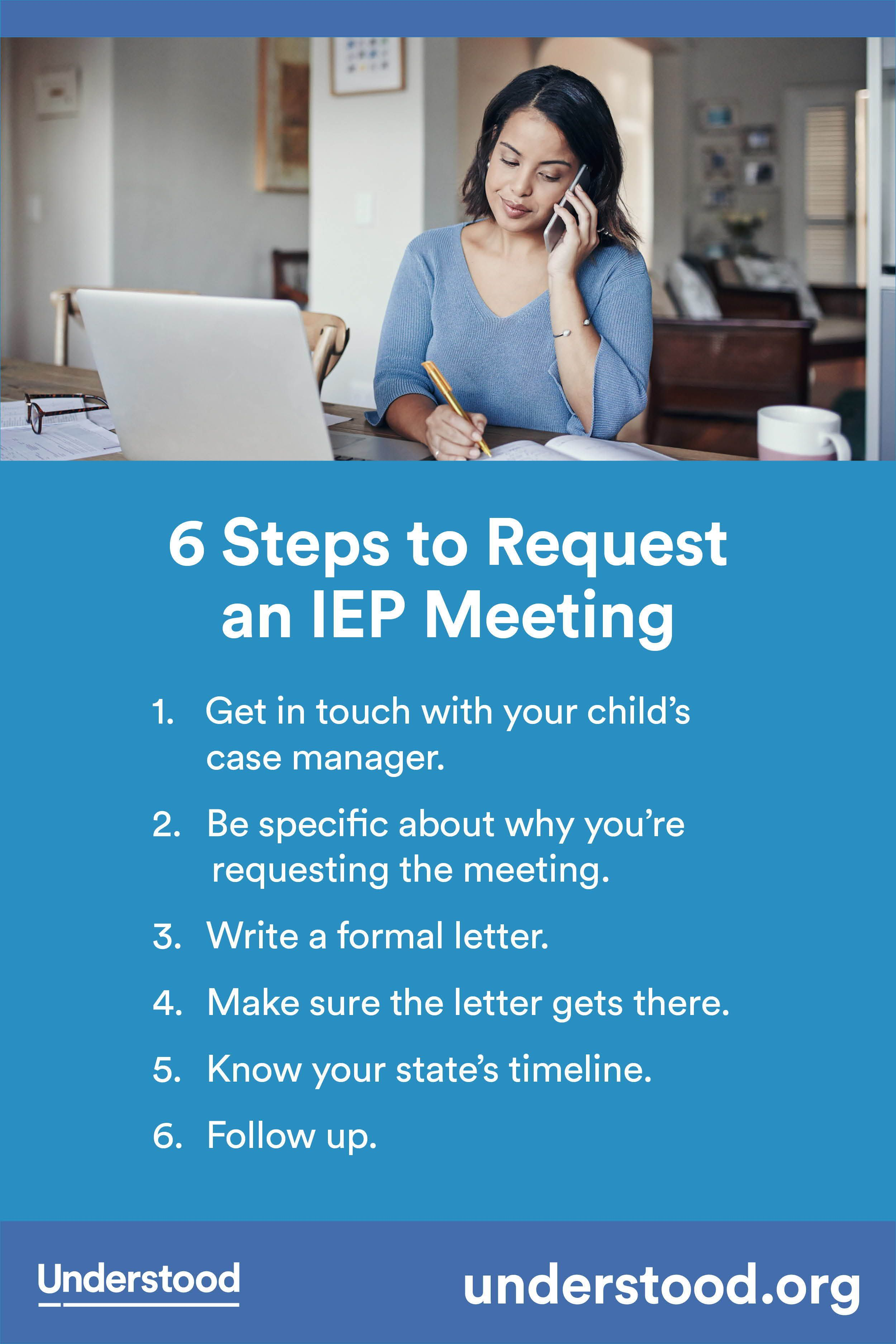 Requesting Meeting To Review Your >> 6 Steps To Request An Iep Meeting Back To School Iep Meetings
