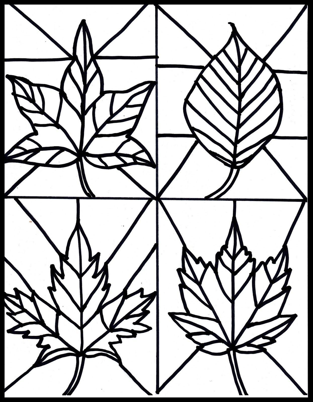 hojas de otoño para pintar | Actividades de plàstica | Pinterest ...