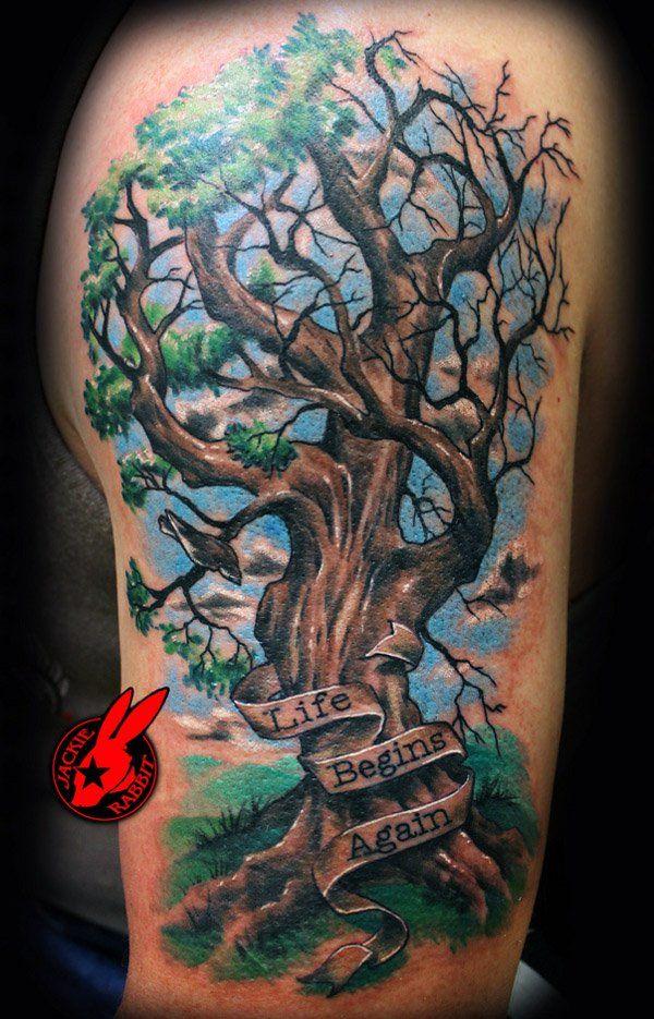 60 Awesome Arm Tattoo Designs Tree tattoo arm, Tree