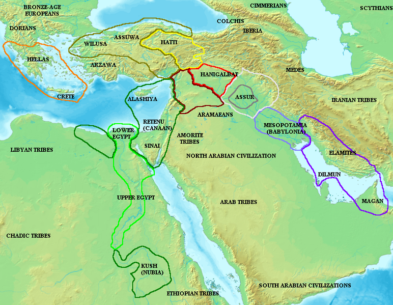 Ancient History The Late Bronze Age in the Middle East  Maps