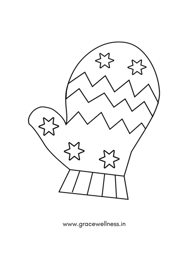 Mittens Coloring Sheet In 2020 Christmas Coloring Pages Winter Mittens Christmas Colors