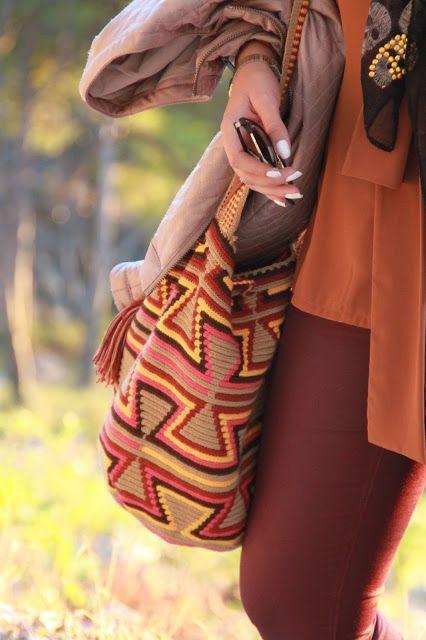 A Cloud in the Sea: Comme un avant goût d'automne ... Check out our mochila bags at www.wayuutribe.com