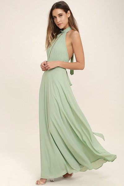 8bbf28358d Sage Green Maxi Dress - Bridesmaids Dresses So Pretty We'd Actually Wear  Them Again - Photos
