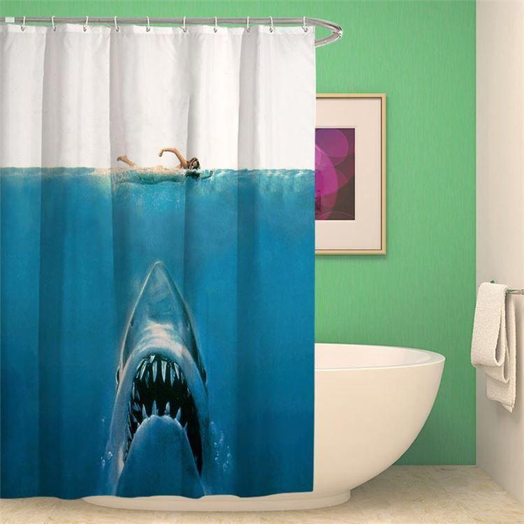シャワーカーテン バスカーテン 防水防カビ プリント オシャレ 浴室 お