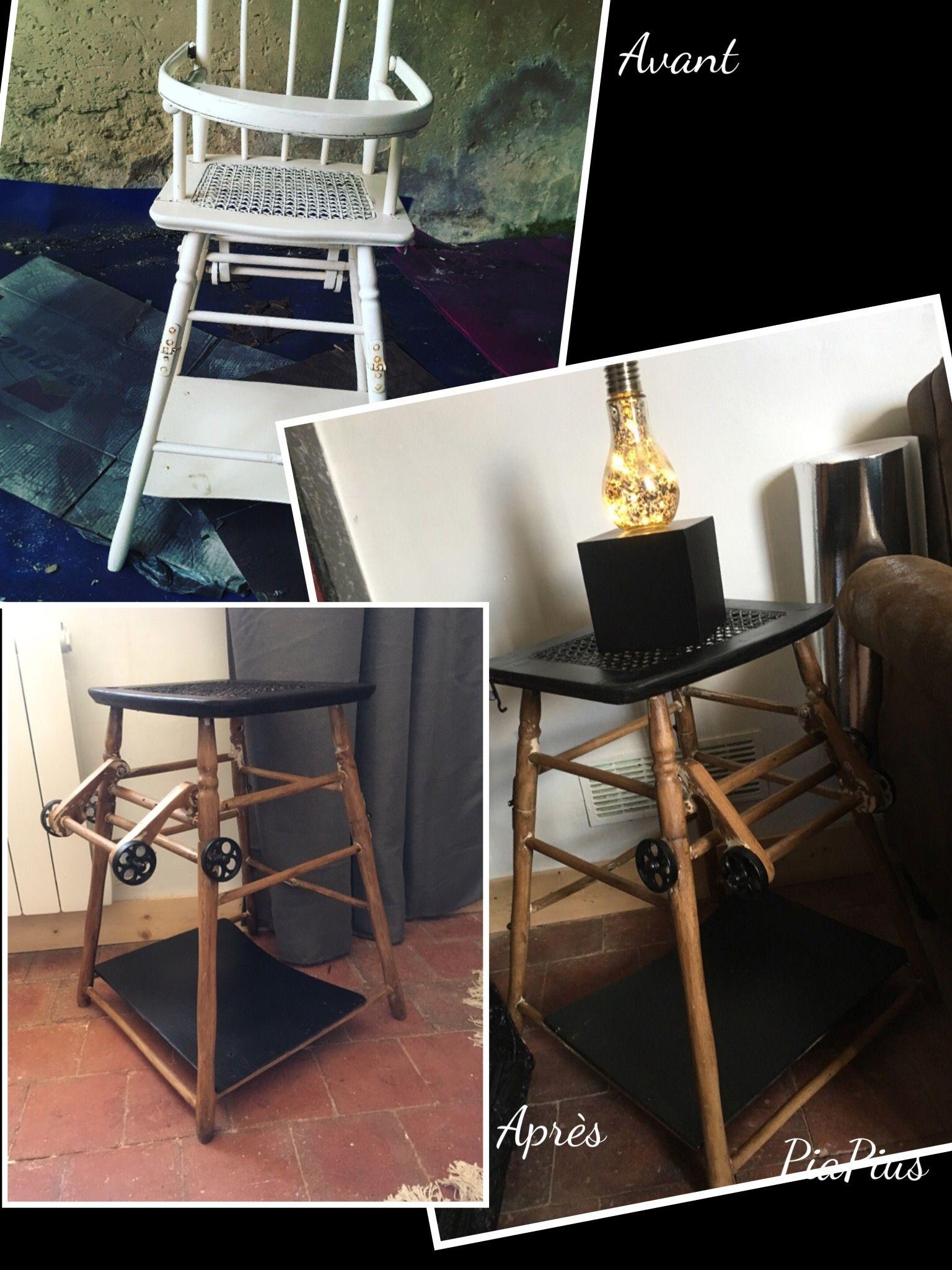 Haute Bébé Style Table Chaise Transformé IndustrielDiy Idee En ChrQdst