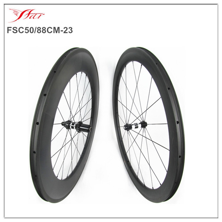 650.00$  Buy here - http://alierl.worldwells.pw/go.php?t=32347834489 - TT carbon road bicycle wheelsets 50mm 88mm mixed up racing wheelsets 700C full carbon fiber high quality and durable wheels 650.00$