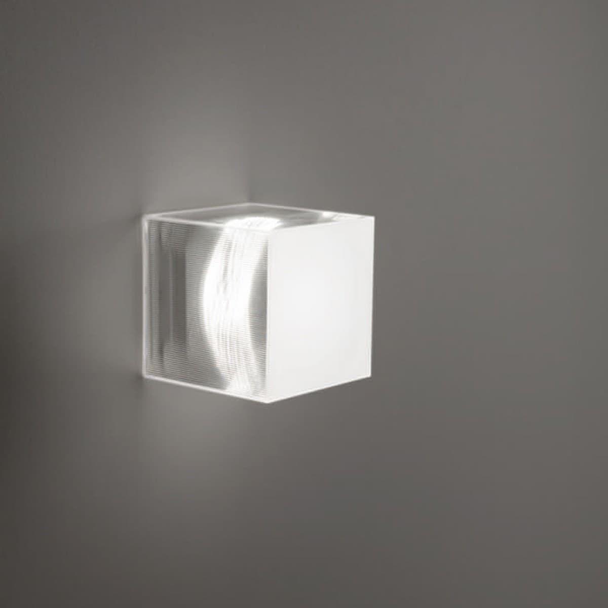 Studio Italia Design Beetle Cube Wand Deckenleuchte Mini Weiss Transparent Badbeleuchtung Indirekte Beleuchtung Beleuchtung
