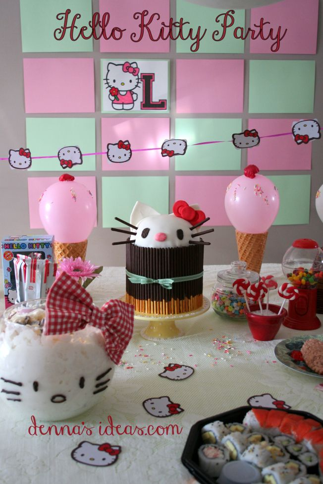The Hello Kitty Party Or La Fiesta De La Hello With Images