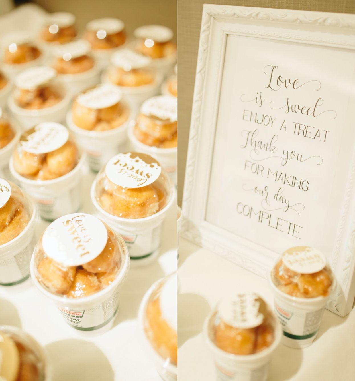 Our wedding favors we\'re Krispy Kreme\'s donut holes because of two ...