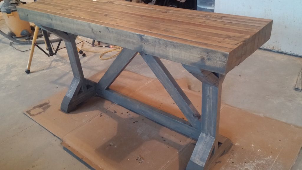 Best Buffet Desk In A Grey Wash With A Butcher Block Top 640 x 480