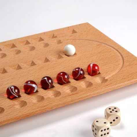 Marble Game With Wooden Board Samsara Game Board With Starting Position  Marbles  Pinterest