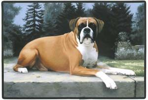 Boxer (Uncropped) on Ledge Doormat 22.95 Boxer dogs