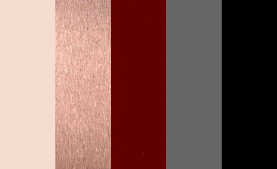 Full Color Palette With Black As An Accent Ivory Rose Gold Burgundy Grey