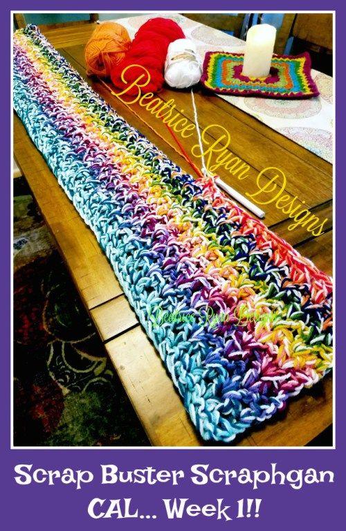 Scrap Busting Scrapghan Crochet Along! | Pinterest