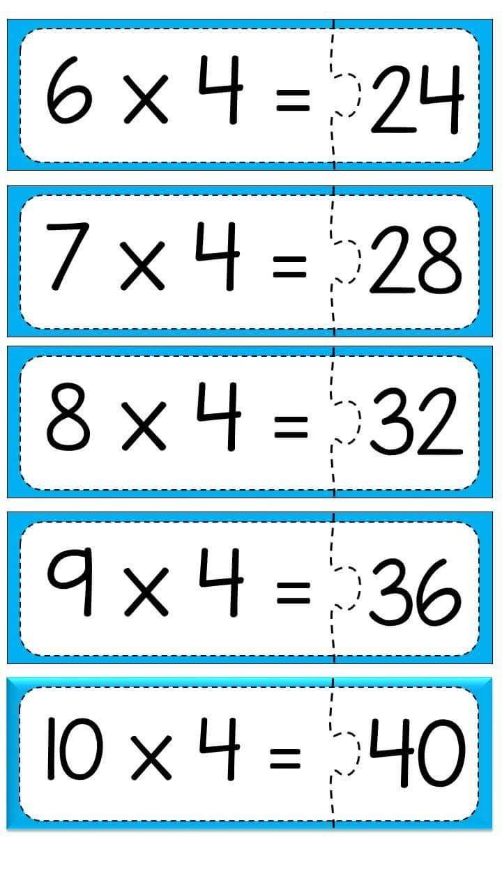 carpma-islemi-puzzle-calismasi-6 | çarpım tablosu puzzle | Pinterest ...