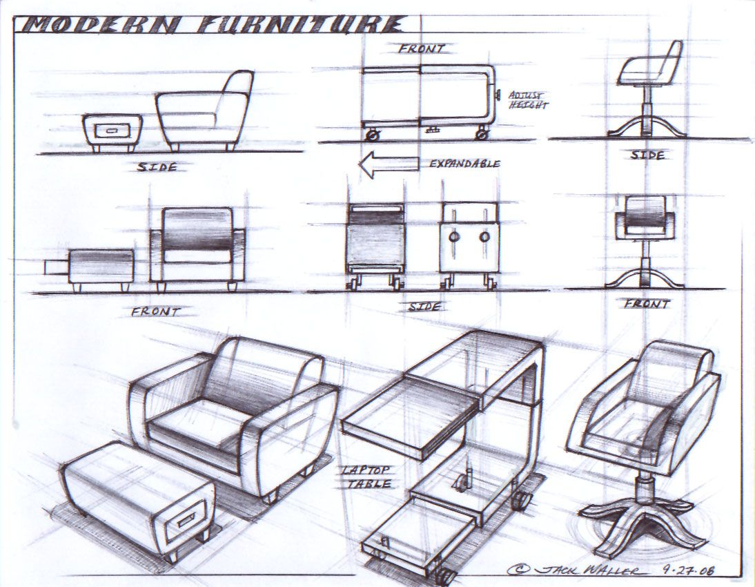 Modern furniture design sketching drawing pinterest for Chair design criteria