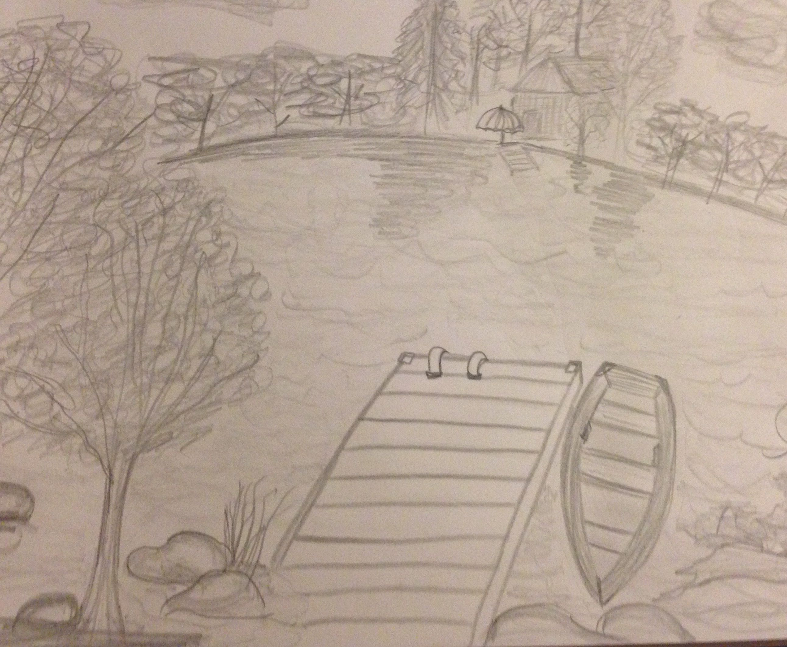 Quiet time on the dock pencil drawing of lake mountain art quiet time on the dock pencil drawing of lake freerunsca Gallery