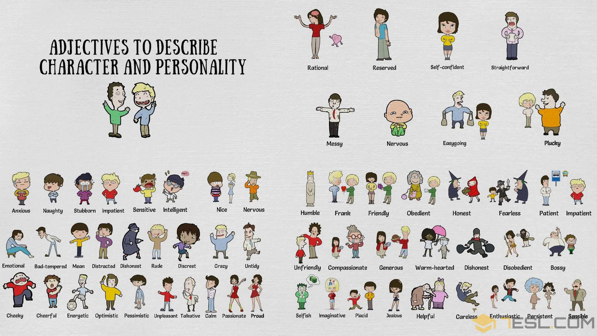 100 Personality Adjectives Character Traits And