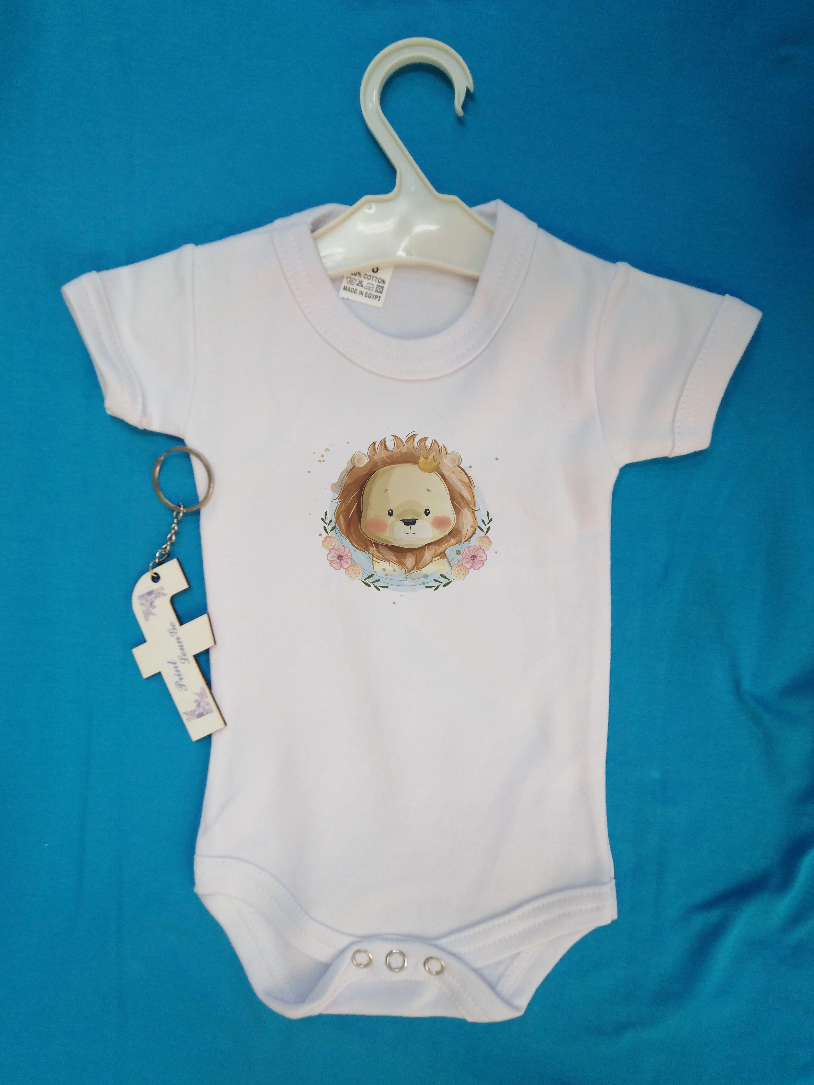 سالوبيت أبيض نص كم قطن ١٠٠ In 2020 Print Baby Onesies Clothes