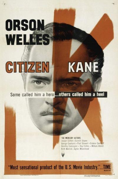 Citizen Kane. Favorite Movie Posters; 1940 - 1959 list