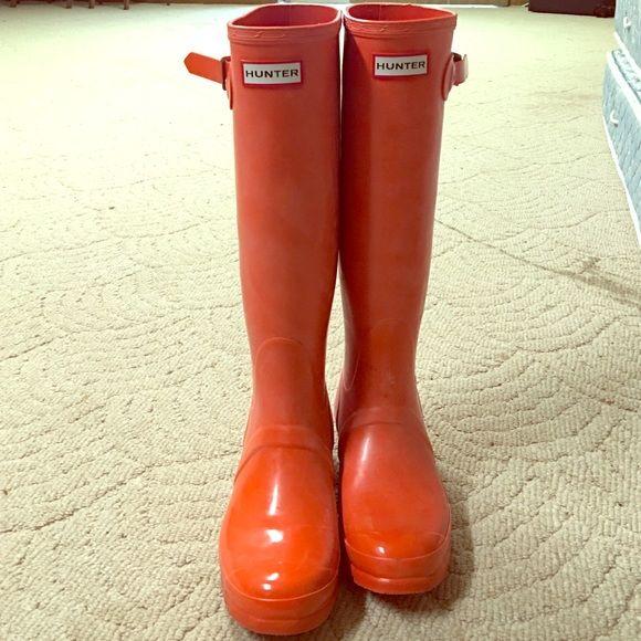b79077a728fbc Orange Hunter Boots Brand New No Box Hunter Boot. Orange. Size 8. Never