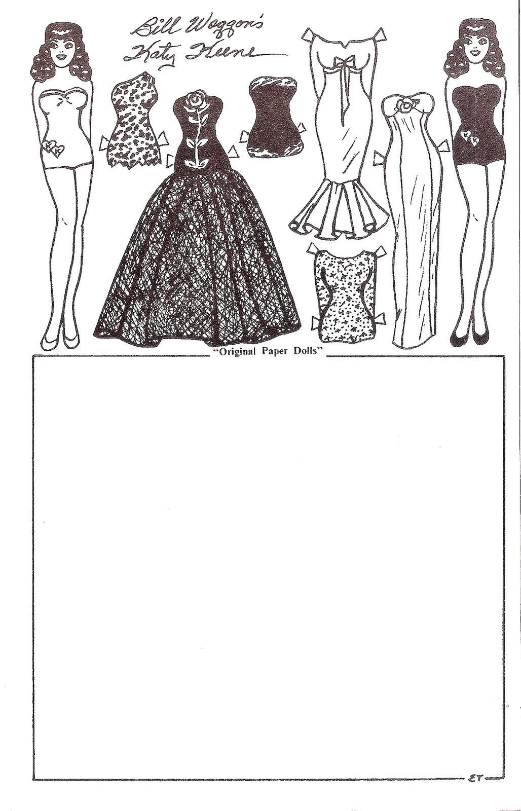 10 sheets katy keene paper doll stationary by emma terry