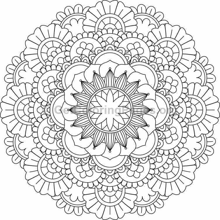 Pin By Get Coloring Pages On Flower Mandalas Coloring Pages