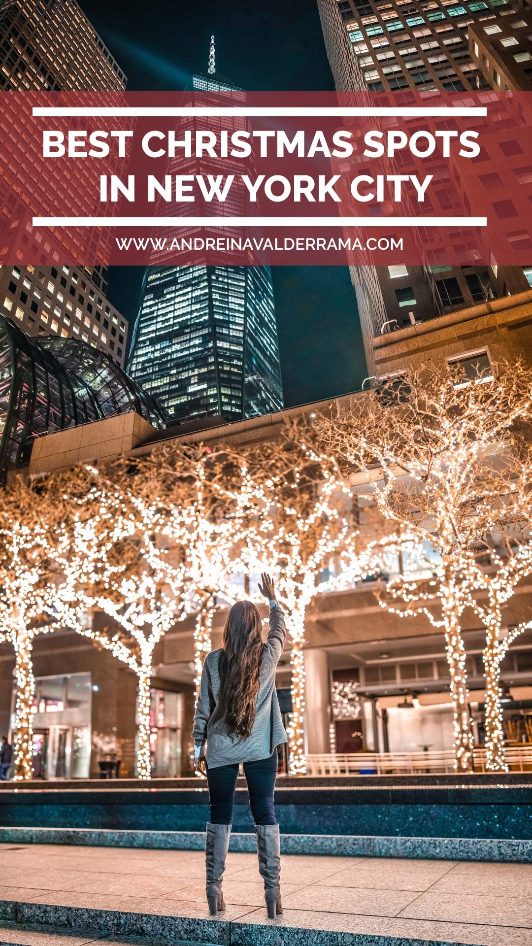 CLICK HERE if you are planning to spend the holidays in New York City, this guide is definitely going to help you get the most of it.  #christmasinnewyork #travel #nightphotography #christmasspots #christmasphotoshoot