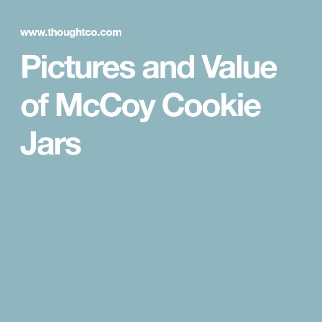 Mccoy Cookie Jar Values Extraordinary What Is The Value Of The McCoy Cookie Jar Collection Mccoy Cookie