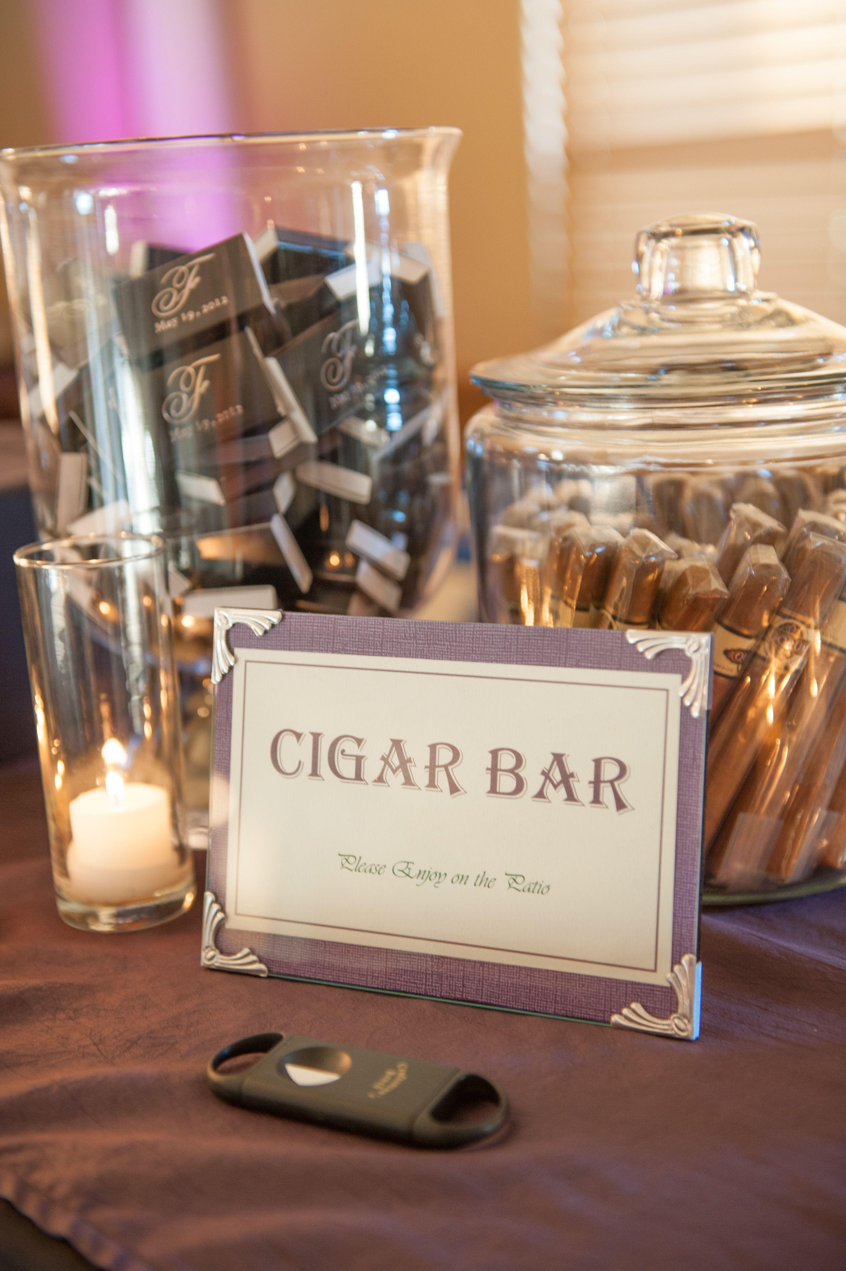 Cigar Bar Something For The Guys Brideside Wedding Details