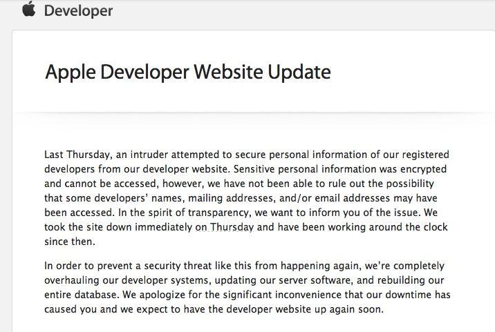 Hackearon los servidores de Apple