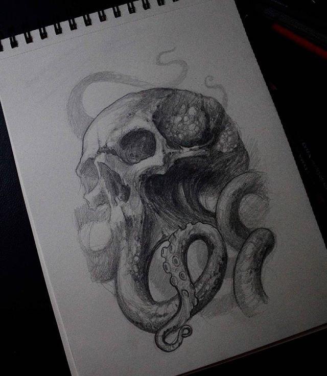 Instagram Analytics Skull Sketch Octopus Sketch Monster Tattoo