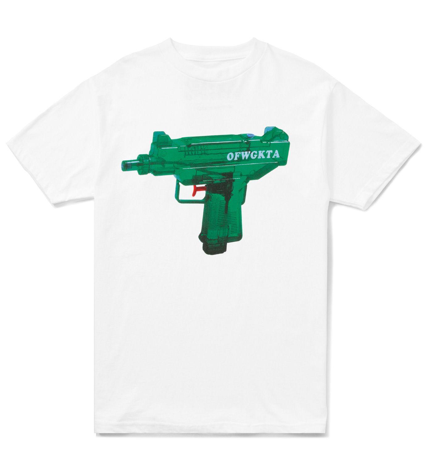 ccadc316d71 White OFWGKTA Water Gun Uzi T-Shirt