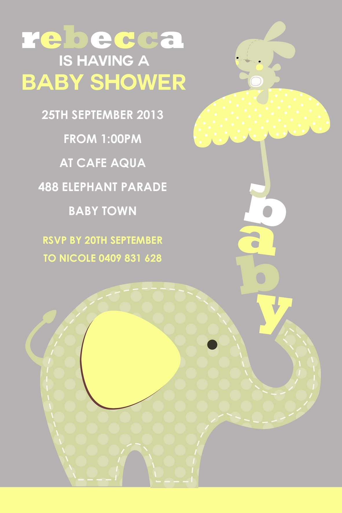 Image For Create Baby Shower Invitations Online Free