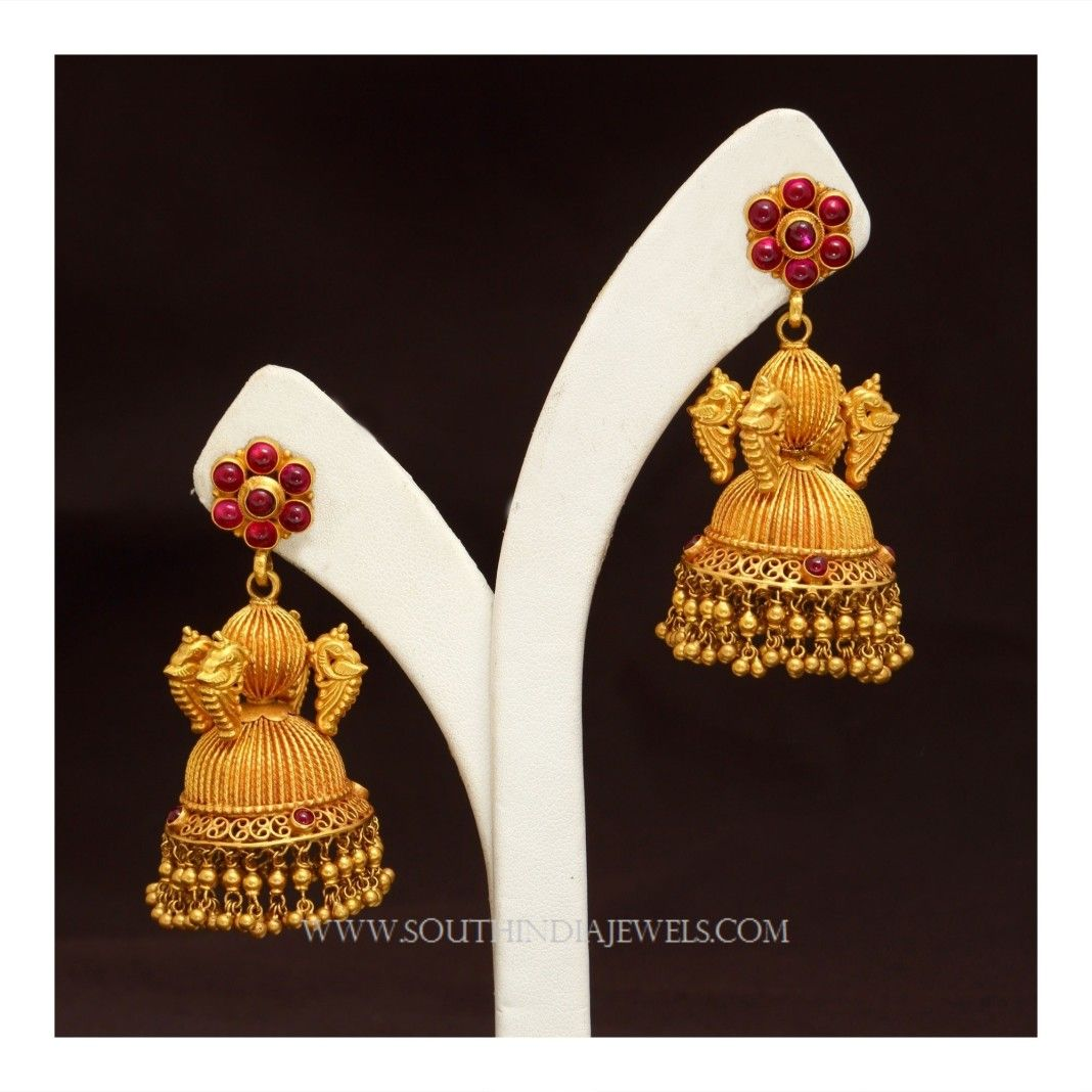And contemporary gold jhumkas collection by khazana jewellery - Gold Jhumka Designs With Weight And Price