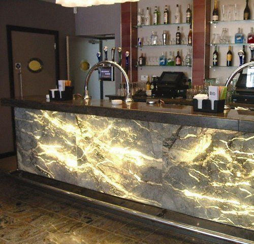 Kitchen Bar With Stone: Bar Front At Leyton Orient Football Club Using This
