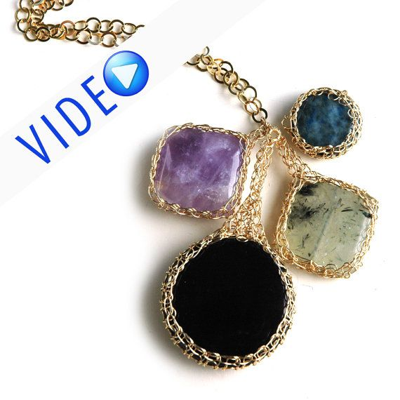 ONLINE Video tutorial and PDF YoolaPotion Charm necklace wire ...