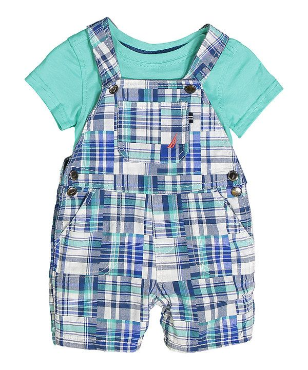 c556f2232 Look at this Aqua Isle Bodysuit & Plaid Overalls - Infant on #zulily today!
