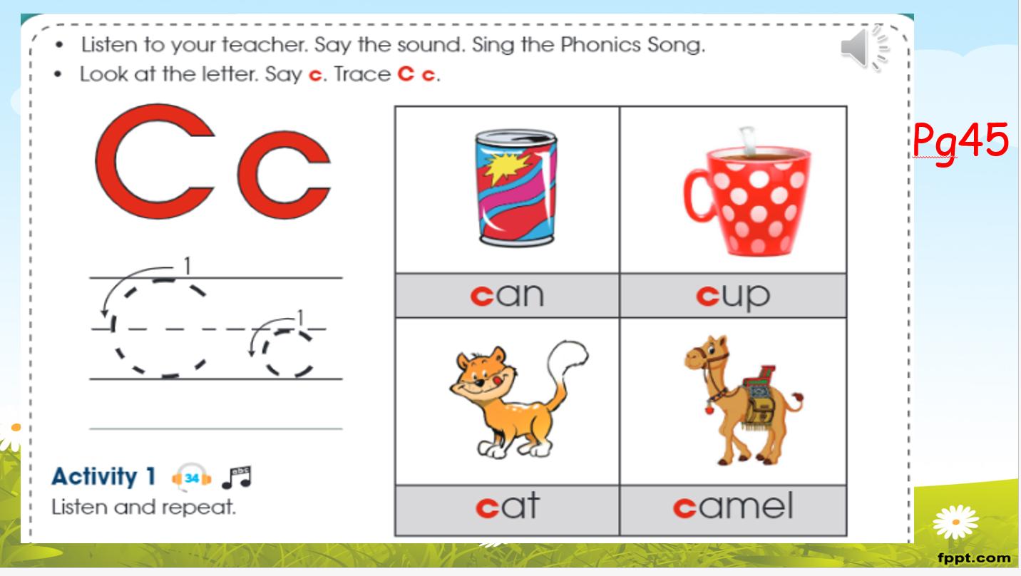 بوربوينت Lesson Letter Cc للصف الاول مادة اللغة الانجليزية Phonics Song Phonics Your Teacher